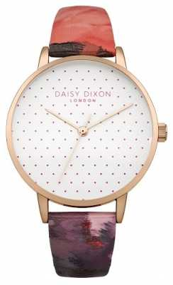 Daisy Dixon Womens Suki Rose Gloss Leather Strap DD008PRG