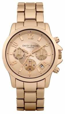 Daisy Dixon Womens Cara Rose Gold PVD Plated Rose Dial DD001RGM