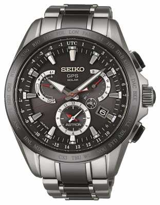 Seiko Astron GPS Mens Titanium/Ceramic  Ion Plated Two Tone SSE041J1