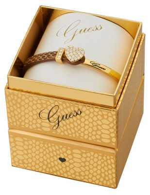 Guess Womens Gold PVD Plated Bracelet Box Set UBS91310