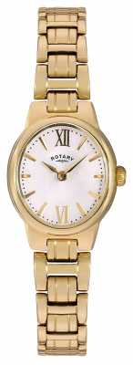 Rotary Womens Gold PVD Plated Mother Of Pearl Dial LB02748/01