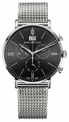 Maurice Lacroix Mens Milanais Stainless Steel Black Dial EL1088-SS002-311-1