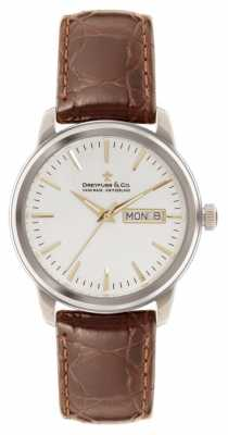 Dreyfuss Mens 1890 Utilitarian Brown Leather Strap DGS00125/02