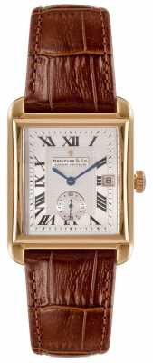 Dreyfuss Mens 1974 Brown Leather Strap Silver Dial DGS00142/06