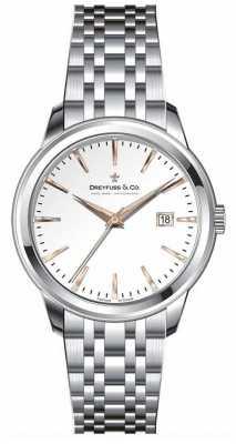 Dreyfuss Womens Stainless Steel Bracelet Silver Dial DLB00125/06