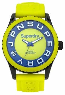 Superdry Mens Tokyo Lime Green And Blue Rubber Strap SYG191N