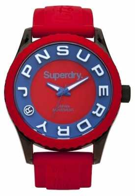 Superdry Mens Tokyo Red And Blue Rubber Strap SYG191R
