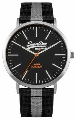 Superdry Mens Black And Grey Strap SYG183BE