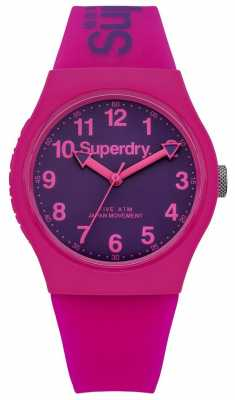 Superdry Unisex Urban Pink And Purple Rubber Strap SYG164PV