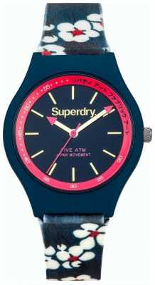 Superdry Unisex Urban Blue Floral Rubber Strap SYL166UU