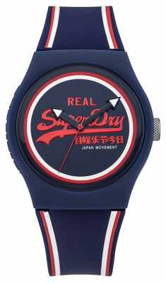 Superdry Unisex Urban Retro Red And Blue Rubber Strap SYG198UR