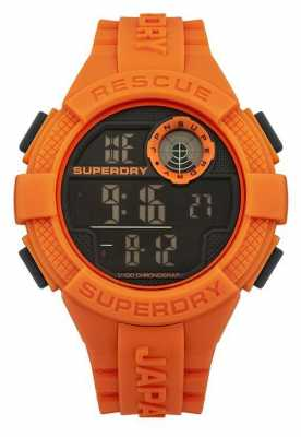 Superdry Mens Radar Digital Orange Rubber Strap SYG193O