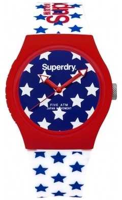 Superdry Unisex Urban Star Blue Red White Rubber Strap SYL168RW