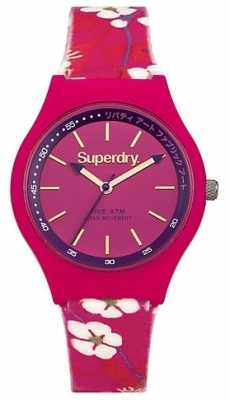 Superdry Unisex Urban Liberty Pink Floral Rubber Strap SYL166PP