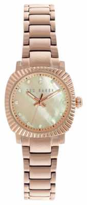 Ted Baker Womens Rose Gold Strap Mother Of Pearl Dial TE10024720