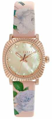 Ted Baker Womens Pink Floral Strap Mother Of Pearl Dial TE10024721