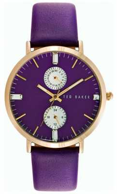 Ted Baker Womens Purple Leather And Dial TE10024714