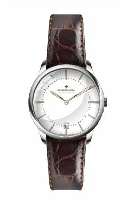 Dreyfuss Womens Brown Leather Strap White Dial DLS00135/01