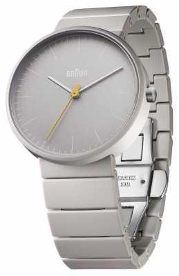 Braun Mens Grey Ceramic Bracelet Grey Dial BN0171GYGYG