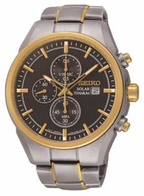 Seiko Gents Solar Powered Chronograph SSC392P9