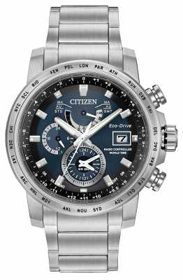 Citizen Eco-Drive Radio Controlled World Time Blue AT9070-51L