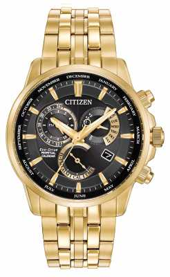 Citizen Gents Calibre 8700 Eco-Drive Gold Tone Stainless Steel BL8142-50E