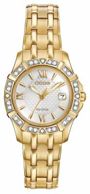 Citizen Eco-Drive 28 Diamonds Gold Plated EW2362-55A