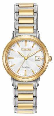 Citizen Eco-Drive Two Tone Womens Bracelet EW2374-56A