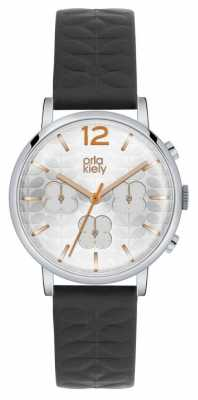 Orla Kiely Chronograph Black Strap Stainless Steel Case OK2003