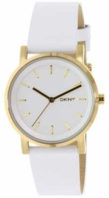 DKNY Womens Soho White Leather Strap NY2340