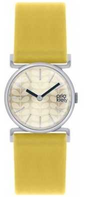 Orla Kiely Cecelia Yellow Leather Strap Champagne Dial OK2021