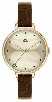 Orla Kiely Ivy Brown Leather Strap OK2030