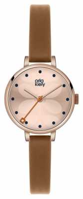 Orla Kiely Ivy Brown Leather Strap OK2034