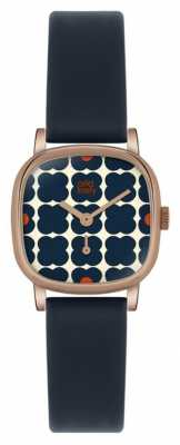 Orla Kiely Iris Blue Leather Strap OK2054