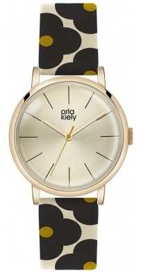 Orla Kiely Patricia Flower Print Leather Strap OK2074