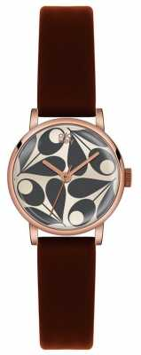 Orla Kiely Patricia Brown Leather Strap OK2082