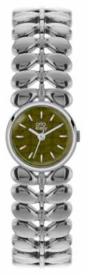 Orla Kiely Laurel Stainless Steel Green Dial OK4011