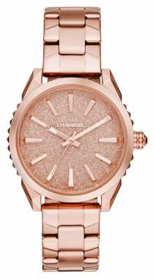 Diesel Womens Nuki Rose Gold PVD Plated Bracelet DZ5502