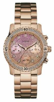Guess Womens Confetti Rose Gold PVD Plated W0774L3