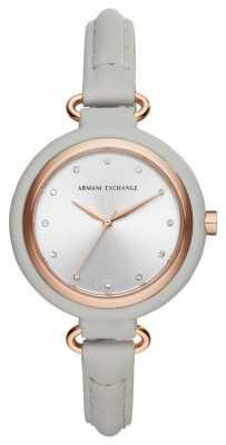 Armani Exchange adies Urban Grey Leather AX4235