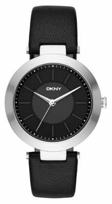 DKNY Womens Stanhope Black Leather Strap NY2465