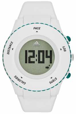 adidas Performance Mens Sprung White Silicone Strap Digital ADP3221