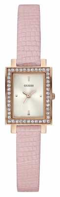 Guess Womens Pink Leather Strap Rectangle Face W0734L4