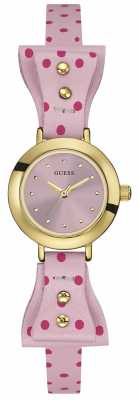Guess Womens Zoey Pink Polka Dot Leather Strap W0736L4