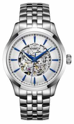 Rotary Silver Steel Strap Silver Dial GB05032/06