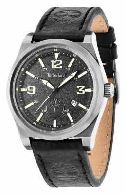 Timberland Black Leather Strap Black Dial 14641JSU/02