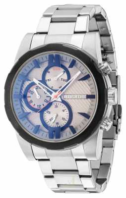 Police Mens Stainless Steel Strap Grey Dial 14541JSTB/13M