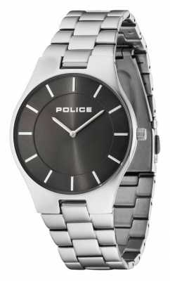 Police Mens Black Dial Stainless Steel Strap 14640MS/61M