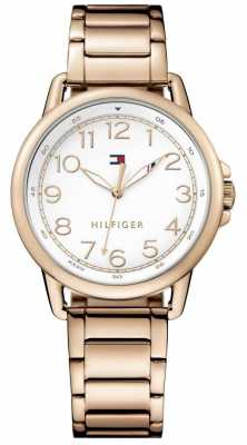 Tommy Hilfiger Womens White Dial Rose Gold Bracelet 1781657