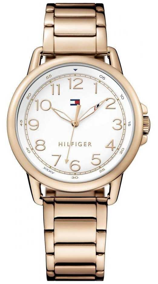 Tommy Hilfiger Womens White Dial Rose Watch 1781657